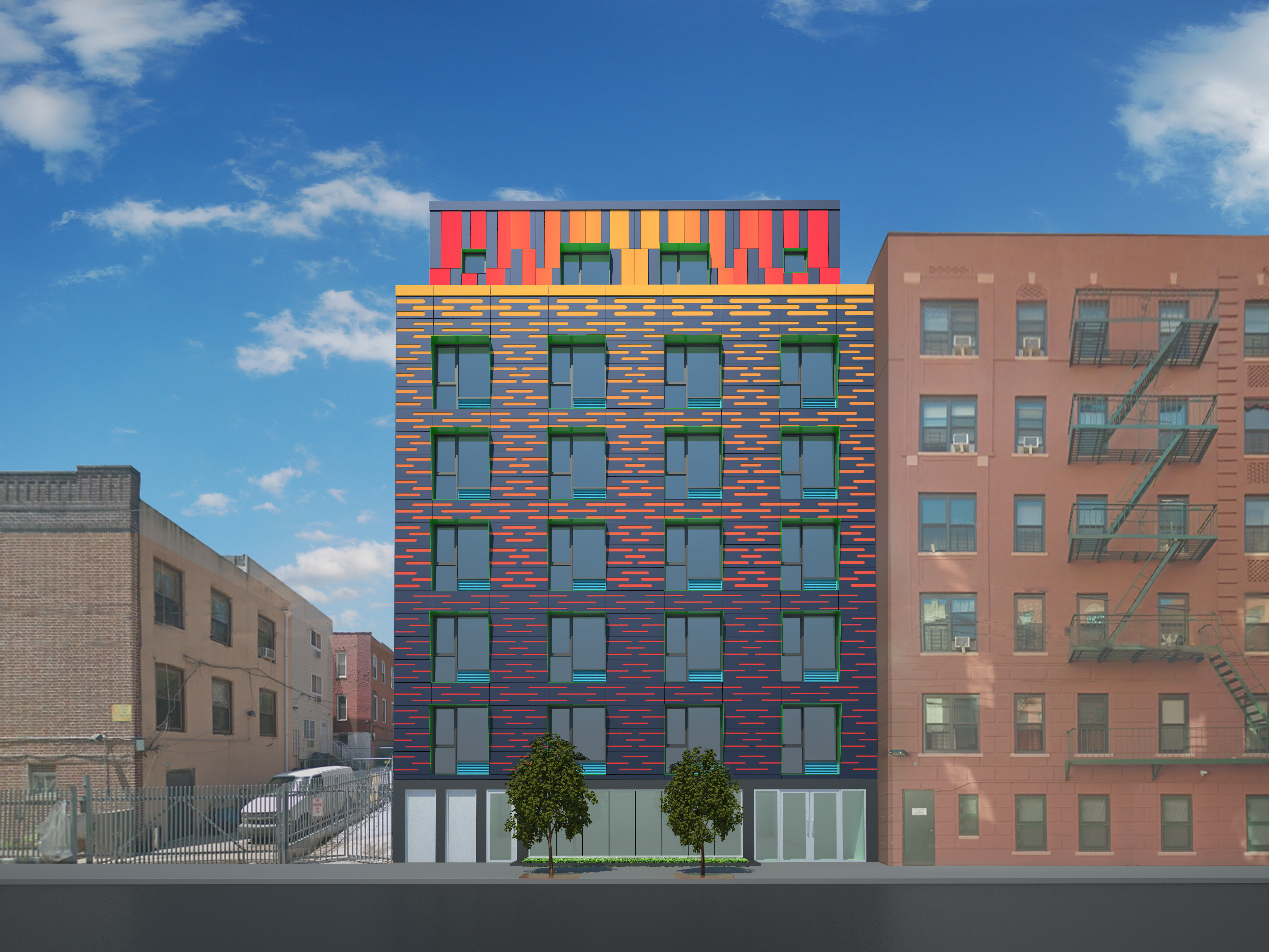 883 Bryant Avenue, rendering from Ari Thaler