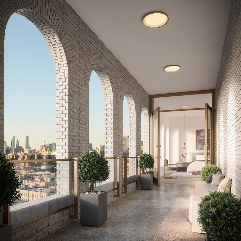 Rendering of terrace areas at The Parlour (Binyan Studios)