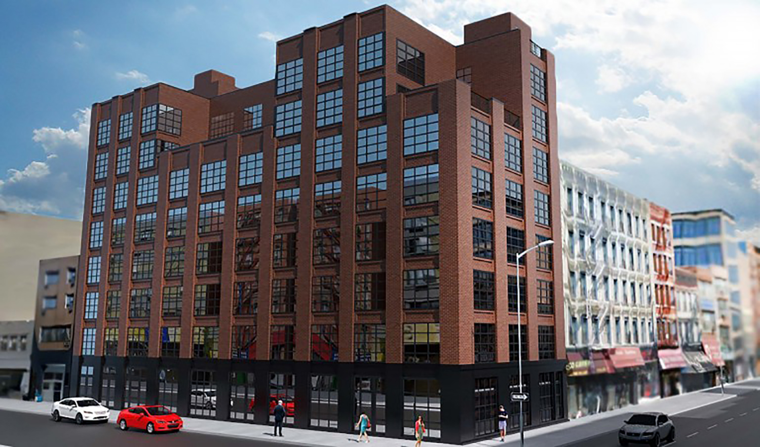 Rendering of 333 Broome Street in LES, NYC