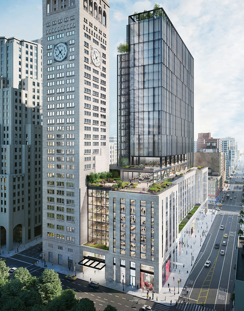Rendering of One Madison Avenue Expansion
