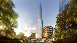 View of 35 Hudson Yards Plaza. Courtesy of Related-Oxford