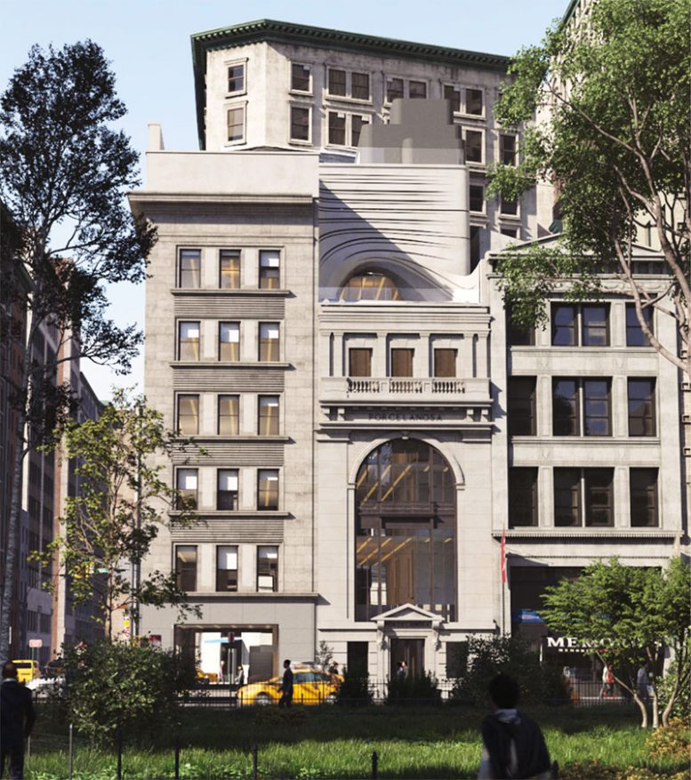 Rendering of Porcelanosa Flagship at 202-204 Fifth Avenue - CetraRuddy Architects