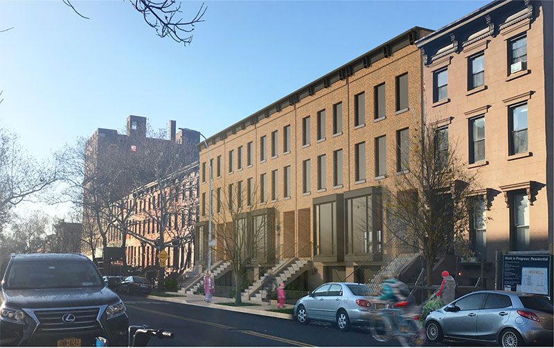 Rendering of Clermont Row Homes - CWB Architects