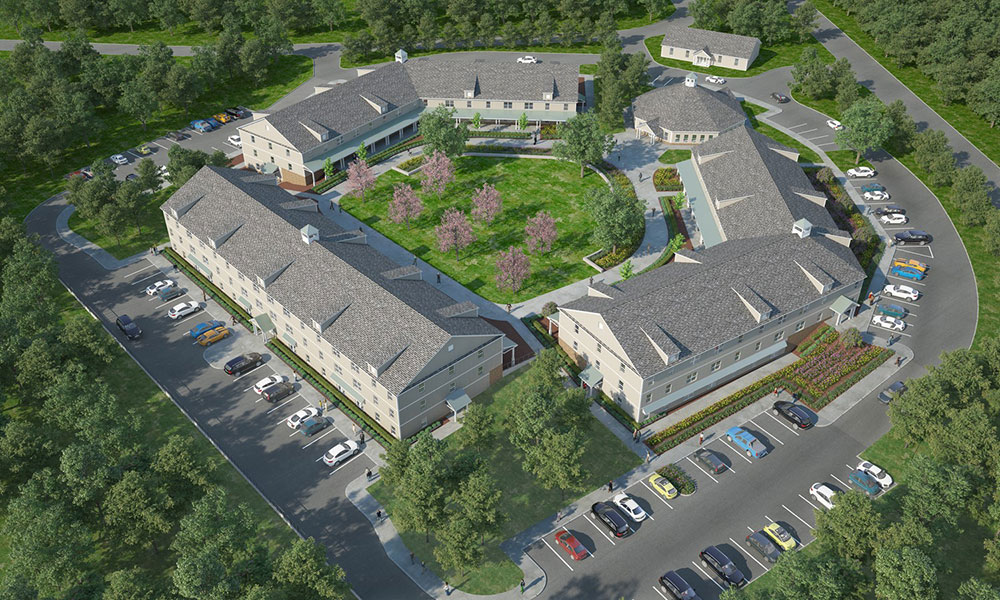 Rendering of Vincent's Village - Sisters of Charity Housing Development Corp. of Staten Island and Rockabill Development of New York City