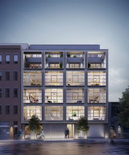 Updated rendering of 138 North 10th Street - Morris Adjmi Architects
