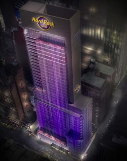 Rendering of the new Hard Rock Hotel at 159 West 48th Street - Hard Rock International