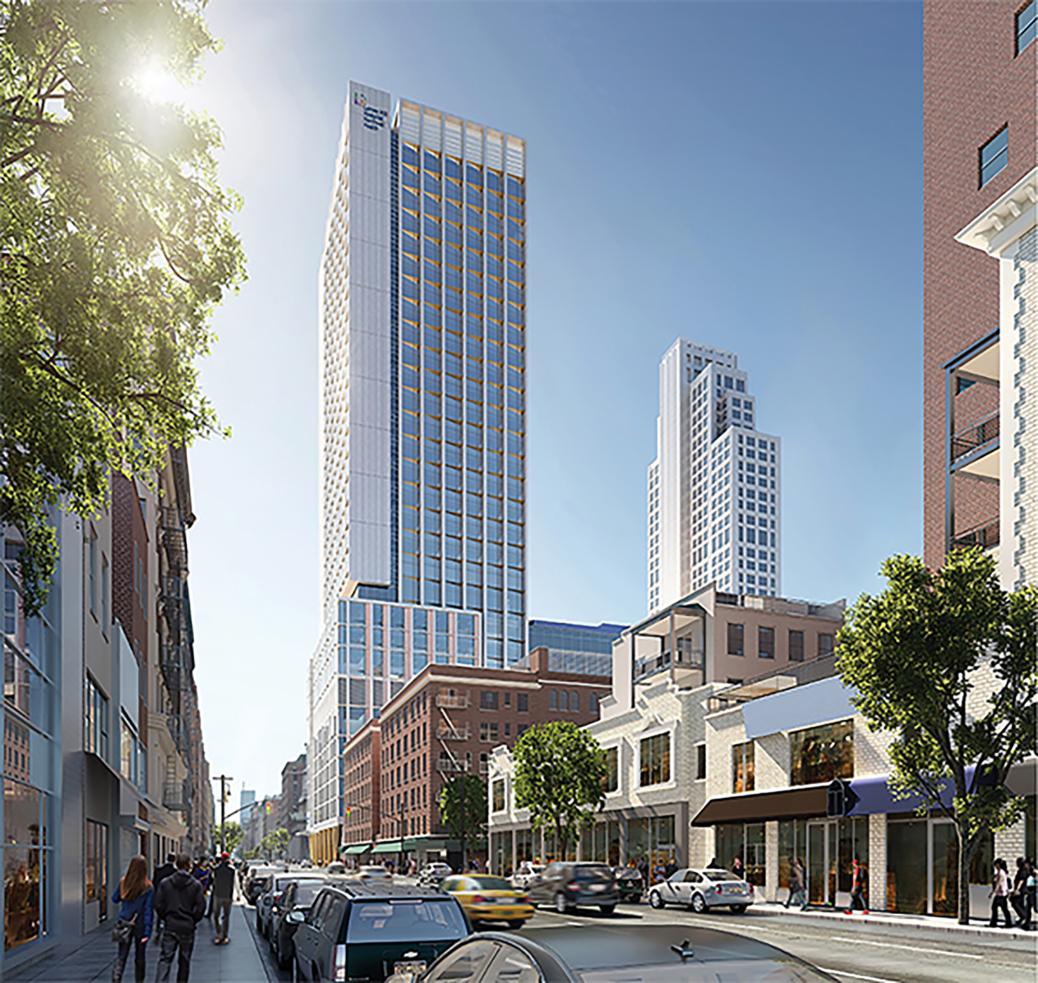 Lenox Hill hospital expansion, rendering by Ennead Architects