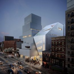 New Museum at 235 Bowery, Rendering via OMA Instagram