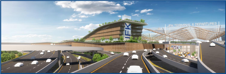 Illustration of the Northwest Corner of the JFK Buildout Site