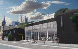 Renderings illustrate the school's new facade - Imrey Studio