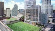 Rendering illustrates new expanded areas of Long Island University's Brooklyn campus - RXR Realty