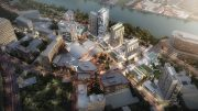 Aerial rendring of the New Jersey Performing Arts Center Waterfront Masterplan - NJPAC