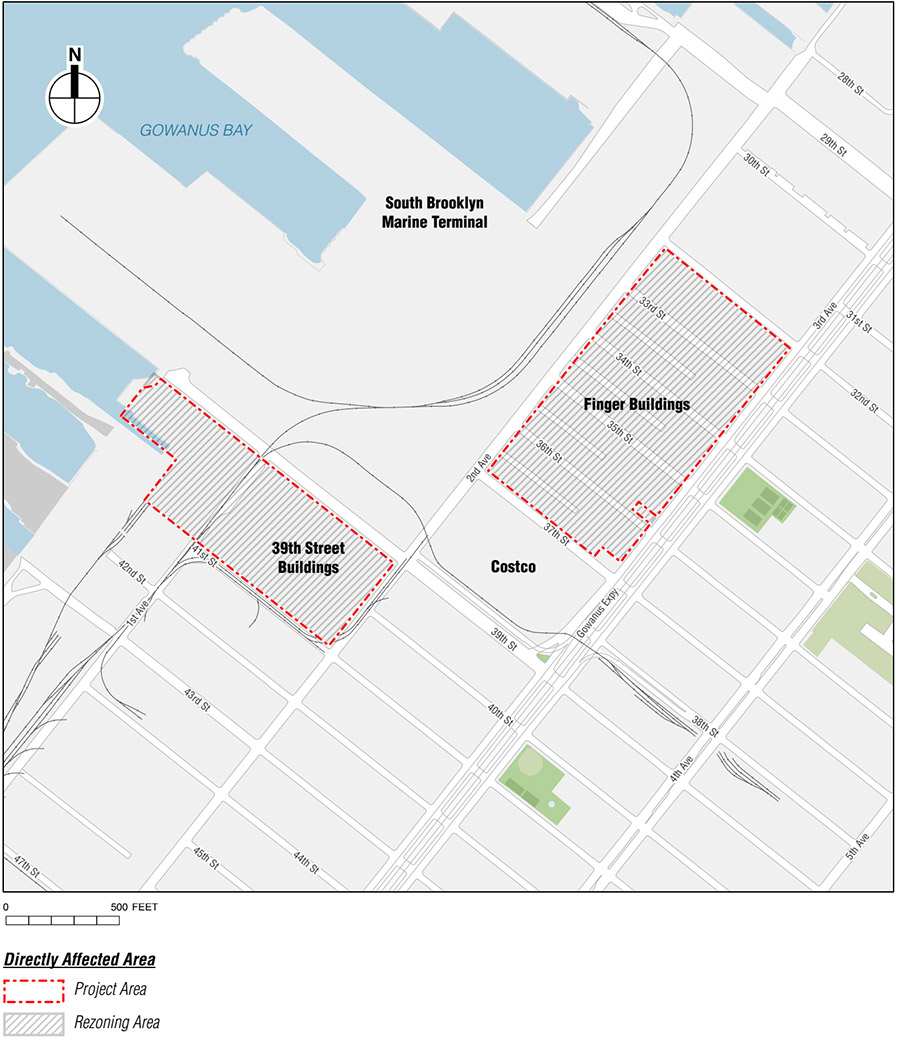 Site Map for Industry City Expansion