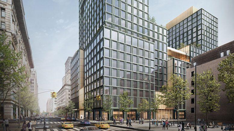 Rendering of 4 Hudson Square - Skidmore, Owings & Merrill