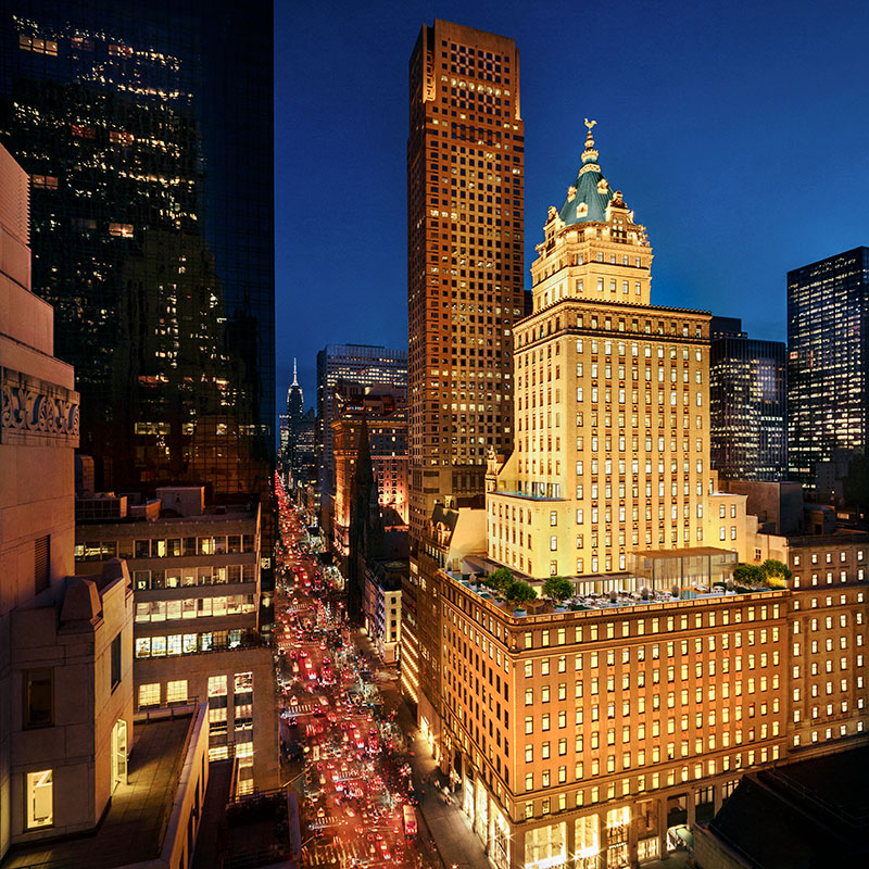 Rendering of Aman New York at the Crown Building