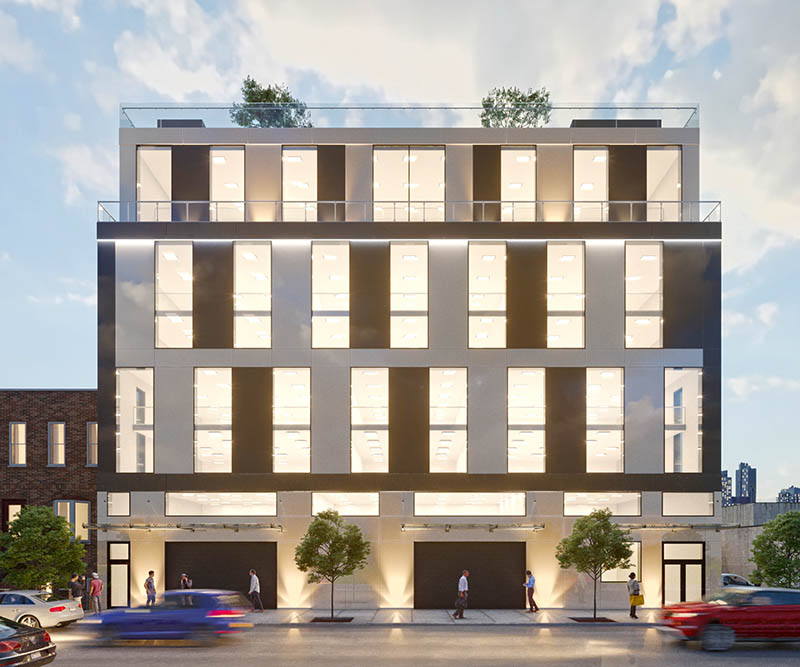 Rendering of 84 14th Street - SWA Architects
