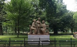 Rendering of the Women's Rights Monument in Central Park - Monumental Women