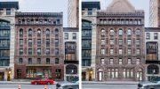 Existing structure at 16 East 16th Street (left) and rendering of proposed structure (right) - BKSK Architects