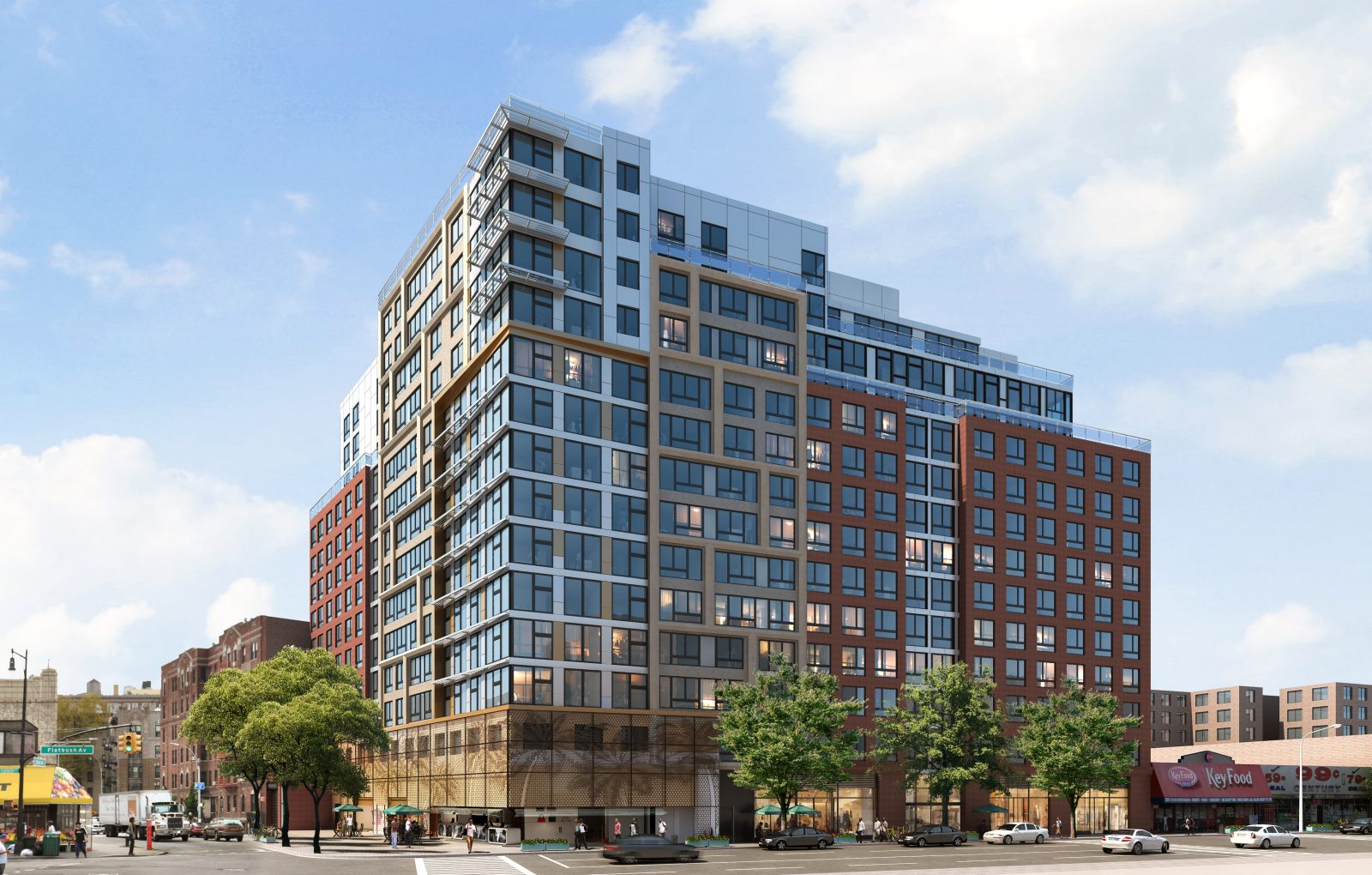 800 Flatbush Avenue, aka Caton Flats, designed by Magnusson Architecture and Planning