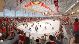Rendering of Sacred Heart University's new arena