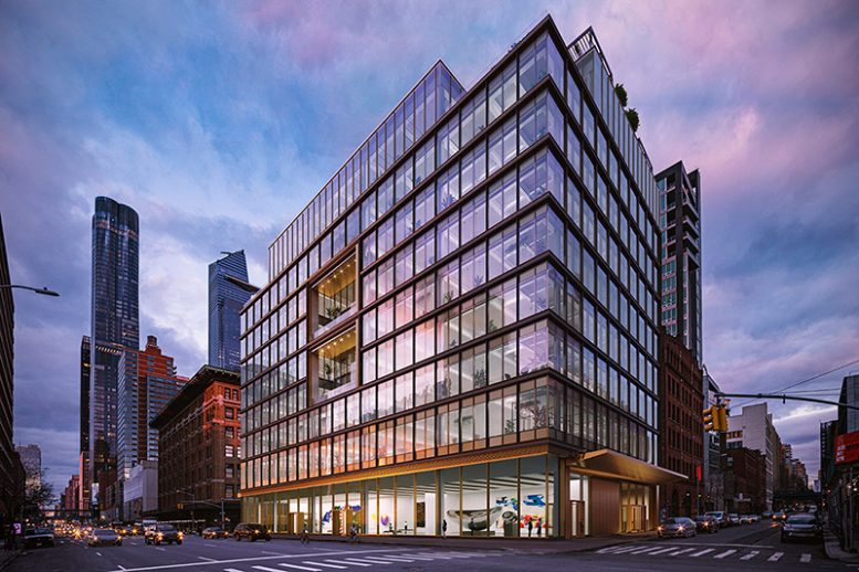 Rendering of The Hudson Arts Building at 220 Eleventh Avenue - The Moinian Group / Studios Architecture