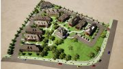 Aerial rendering of the Kreischer House Development in Staten Island