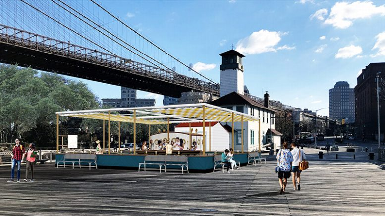 Updated rendering of the Fulton Ferry Landing Pier - Starling Architects