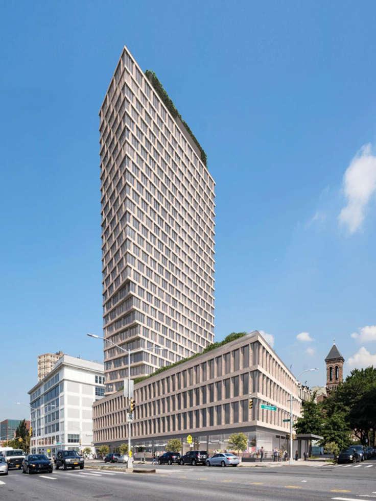 Rendering of 550 Clinton Avenue - Morris Adjmi Architects