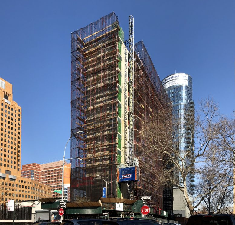 Photo of construction at The Alfred on Fleet in April 2020 - Photo by Michael Young