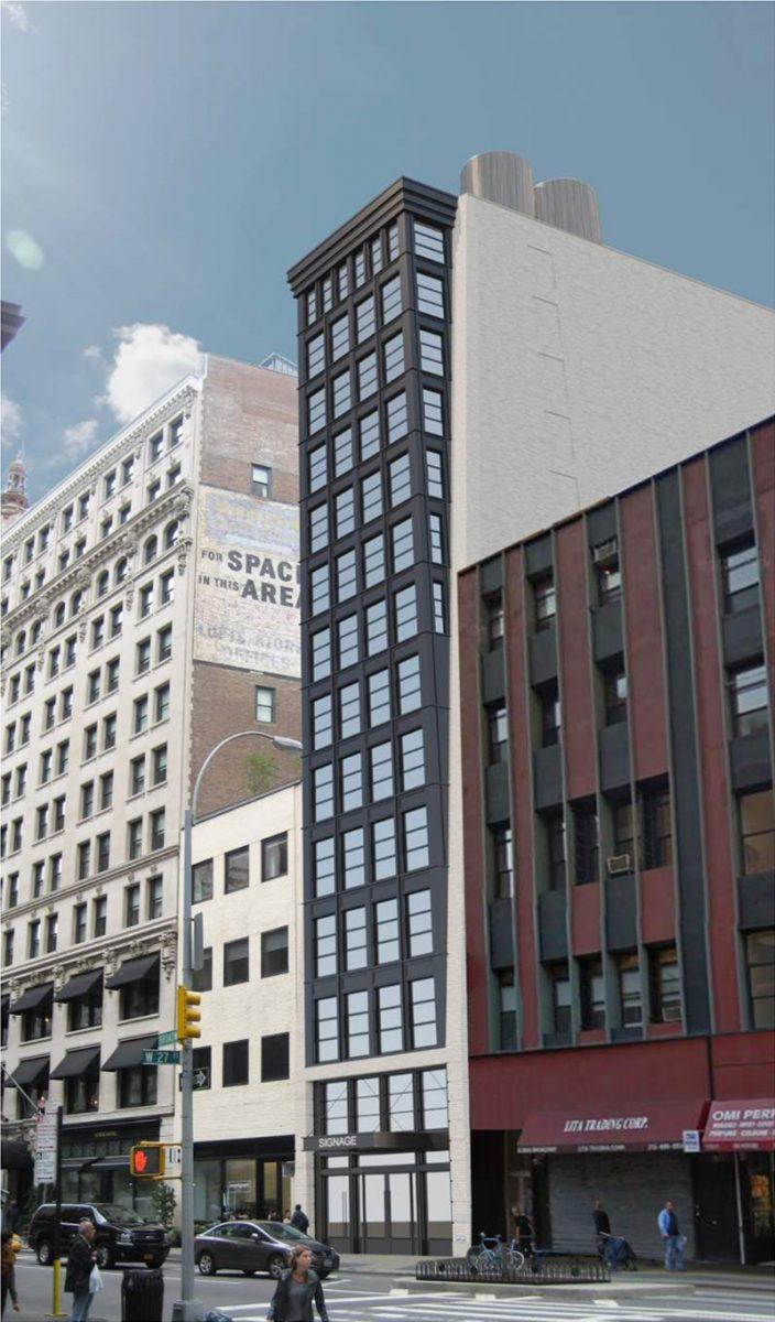 Current renderings of 1162 Broadway - Morris Adjmi Architects