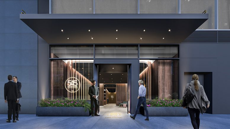Rendering of new entryways at 545 Madison Avenue - Marx Realty; Studios Architecture