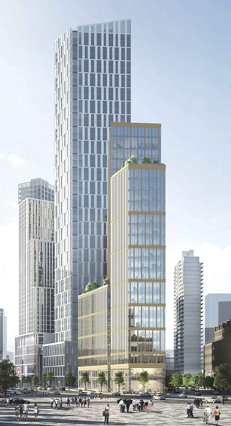 Rendering of141 Willoughby Street - SLCE Architects; Fogarty Finger Architects