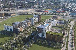 Rendering of Phase One of the Bayfront Redevelopment Plan