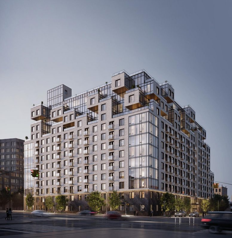 Updated rendering of 260 Gold Street - J Frankl Associates