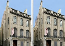 Southern view of proposed (left) and updated design (right) of 3 East 89th Street (Rafael Viñoly Architects)