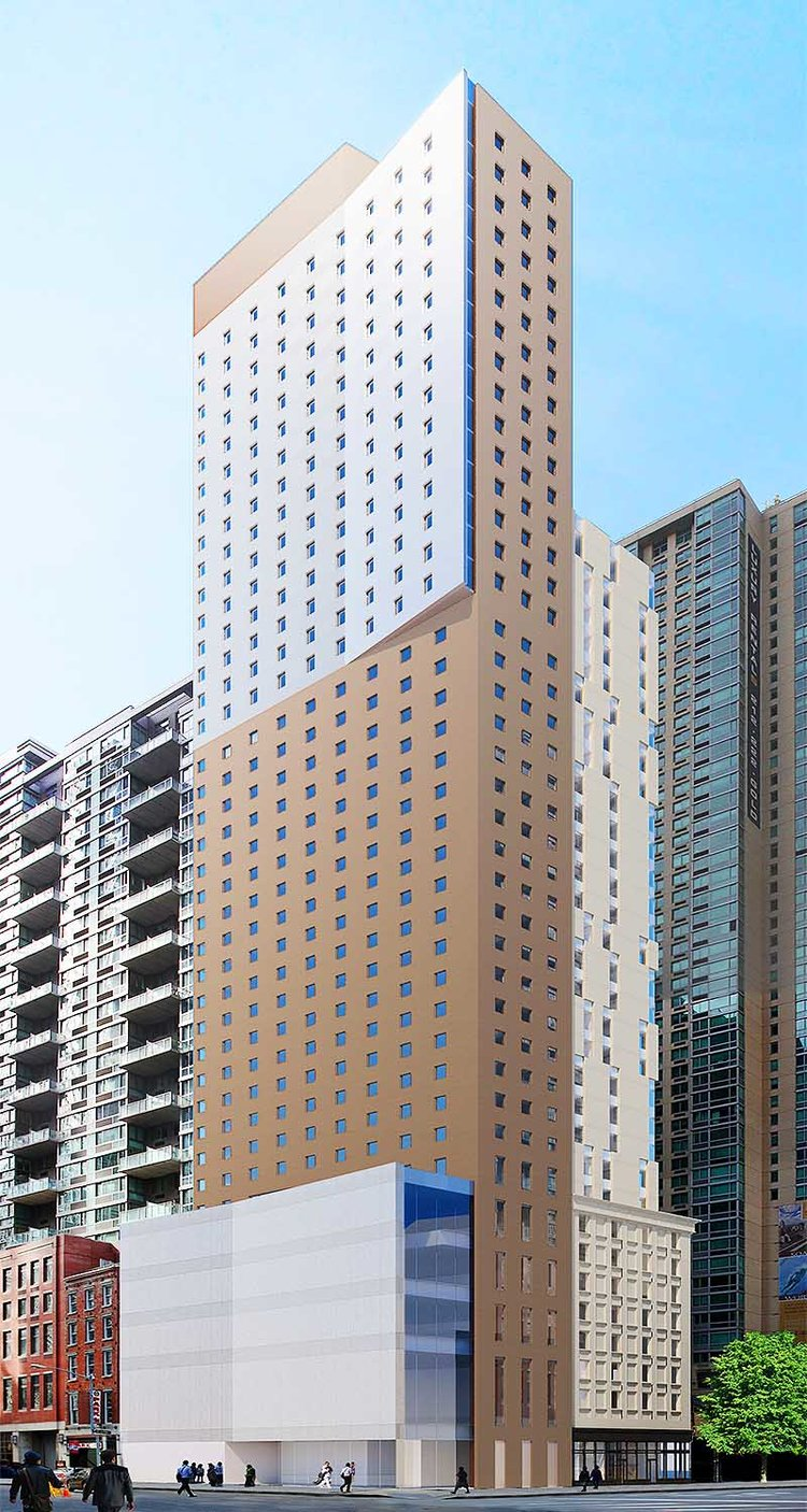 Rendering of 215 Pearl Street - Gene Kaufman Architect; Nobutaka Ashihara Architects