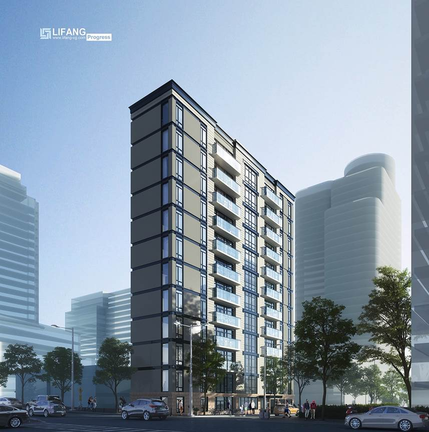 Rendering of 'The Alfred on Fleet' at 112 Fleet Street / 167 Willoughby Ave - Lifang International CGI