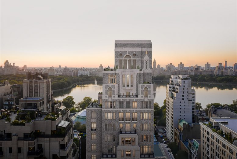 Rendering of 1228 Madison crown over Jacqueline Kennedy Onassis Reservoir - Illustration by Grain