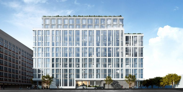 Rendering of 144 First Street in Jersey City - Fogarty Finger