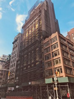 View of constrcution progress at 292 Fifth Avenue - Gene Kaufman Architect
