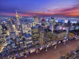 Image of the observation deck at Top of the Rock - courtesy of Rockefeller Center