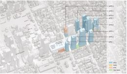 Map depicts proposed building massing within Empire State Complex - Empire State Development