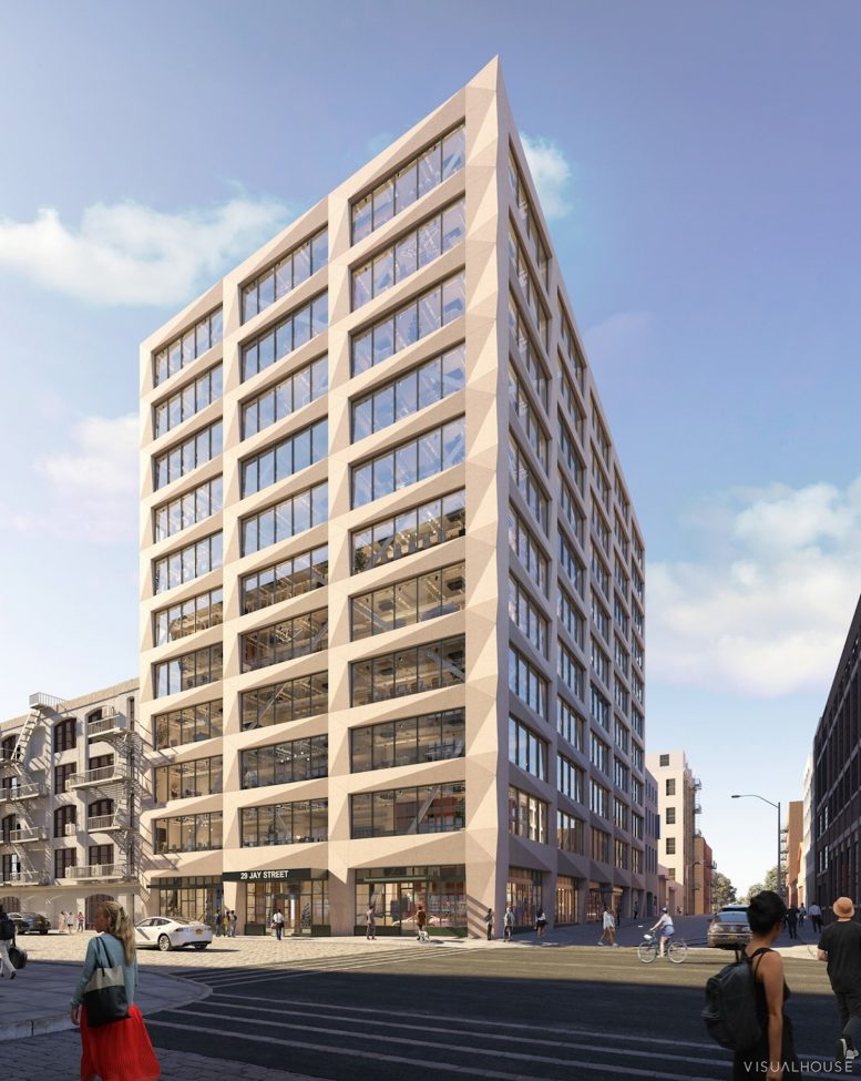 Rendering of 167 Plymouth Street. Courtesy of Visualhouse/Marvel Architects