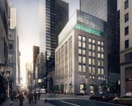 Rendering of Tiffany's Fifth Avenue Flagship Expansion (727 Fifth Avenue) - Courtesy of OMA New York; Bloomimages.de
