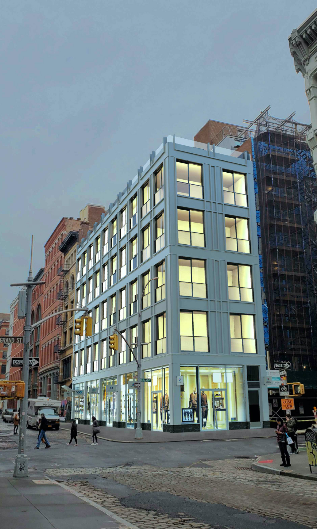 Rendering of 72 Grand Street - Katz Architecture; RKTB Architects