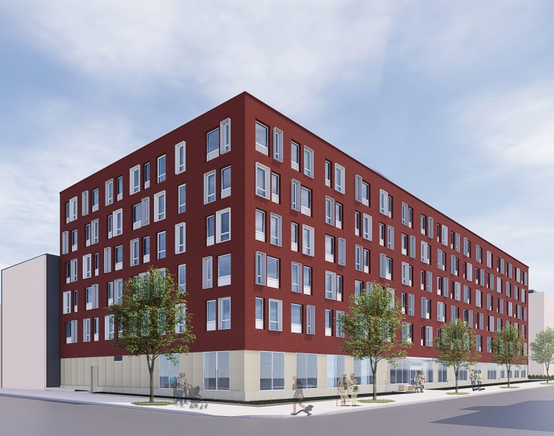 Rendering of Bishop Valero Residence at 23-11 31st Road - Dattner Architects