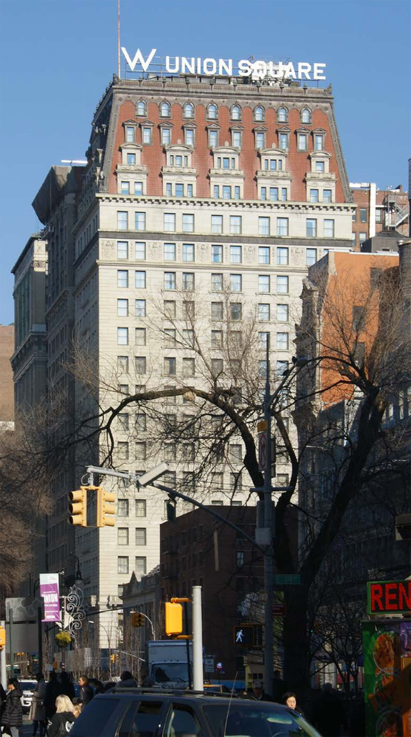 View of W New York - Union Square with proposed conditions - Beyer Blinder Belle