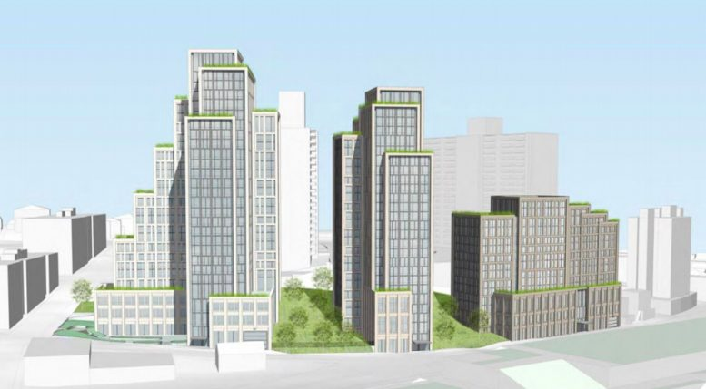 Rendering of Liberty Towers in St. George, Staten Island