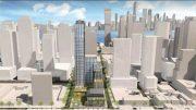 Preliminary renderings of the Laurel-Saddlewood Redevelopment Plan - Beyer Blinder Belle