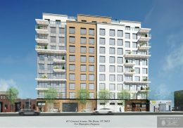 Rendering illustrates street-level view of 431 Concord Avenue - Gerald J. Caliendo Architect